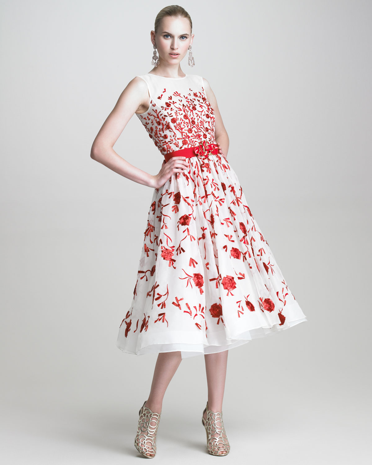 Red dress white flowers fashion white dress red dress white flowers mightylinksfo