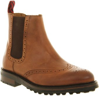 Ralph Lauren Norbeck Chelsea Tan Leather Boots - Lyst