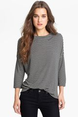 Stem Stripe Mock Neck Top - Lyst