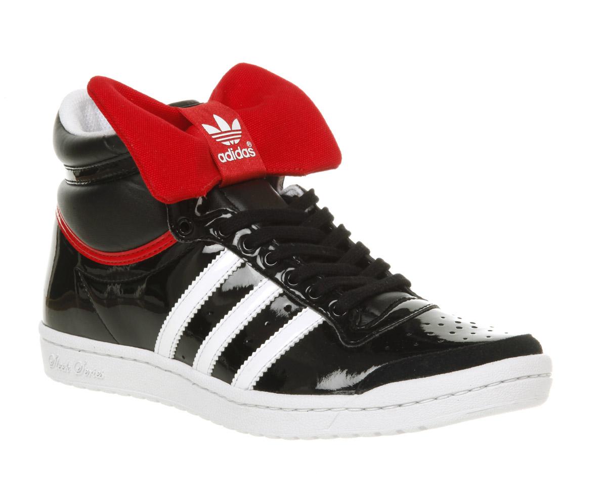 super popular a578a 110ba adidas Top Ten Hi Sleek Blkrd Bow Nite in Black - Lyst
