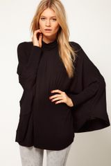 ASOS Collection Asos Top with Circle Roll Neck