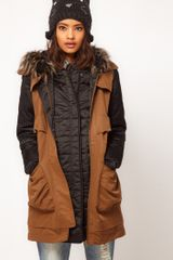 ASOS Collection Asos Gilet Parka - Lyst