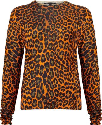 Christopher Kane Leopard Print Silk and Cashmere Blend Top - Lyst
