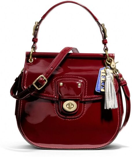 Coach Patent New Willis in Red (brass/crimson) - Lyst