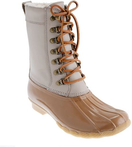 Jew Sperry Topsider Twotone Tall Shearwater Boots in