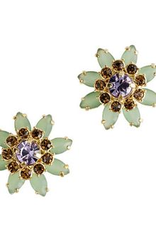 J.Crew Flower Lattice Earrings - Lyst