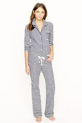 J.Crew Pajama Set in Flannel Gingham - Lyst