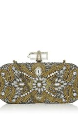 Marchesa Oval Crystal Clutch - Lyst