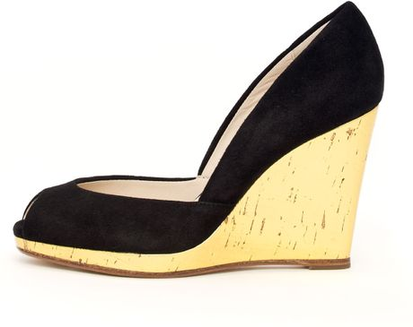 Michael Kors Korsvail Patent Wedge in Black - Lyst
