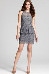Milly Peplum Dress Liza Lace - Lyst