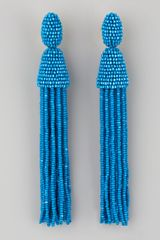 Oscar de la Renta Long Beaded Tassel Earrings - Lyst
