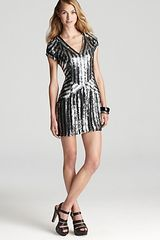 Parker Geometric Sequin Dress  - Lyst