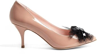 RED Valentino Nude Pointed Toe Patent Leather Stilettos - Lyst