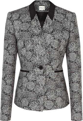 Reiss Cut Away Jacquard Jacket - Lyst