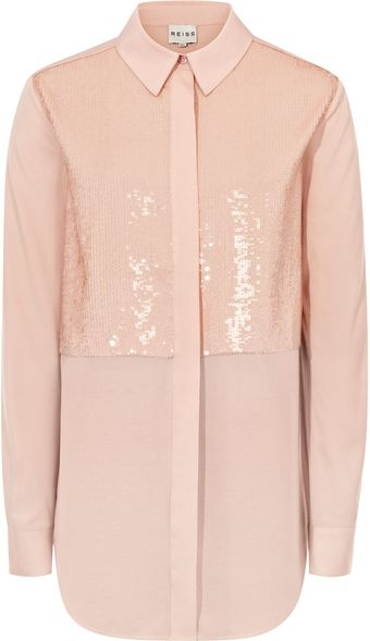 Reiss Contrast Fabric Shirt - Lyst