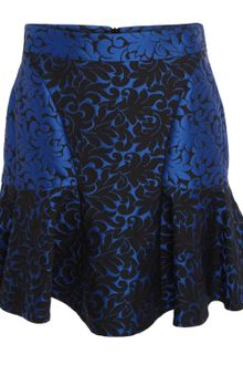 Stella McCartney Cobalt Patty Brocade Skirt - Lyst