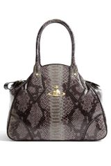 Vivienne Westwood Large Snake Effect Faux Leather Yasmin Tote
