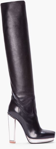 Yves Saint Laurent Kneehigh Mirrored Tabita Boot - Lyst