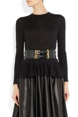 Alexander Mcqueen Doublebuckle Leather Waist Belt in Black - Lyst