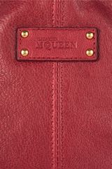 Alexander Mcqueen De Manta Textured leather Cosmetics Case in Red (cherry) - Lyst