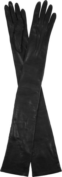 Bottega Veneta Fulllength Leather Gloves - Lyst