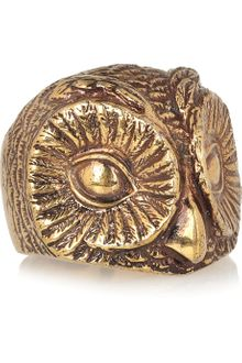 Burberry Shoes & Accessories Burnished Goldtone Owl Ring - Lyst
