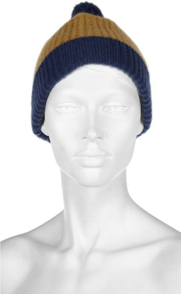 Burberry Wool And Cashmere Blend Waffle Knit Beanie In