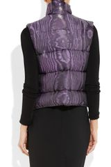 Christopher Kane Quilted Silkblend Moire Gilet in Purple (lilac) - Lyst