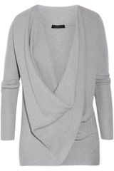 Donna Karan New York Draped Crossfront Cashmere Sweater - Lyst