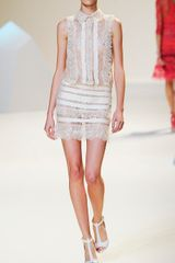Elie Saab Vanilla Lace Mini Dress in White (vanilla) - Lyst