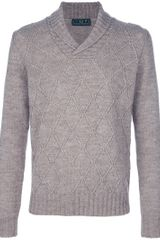 Fred Perry Diamond Knit Sweater - Lyst