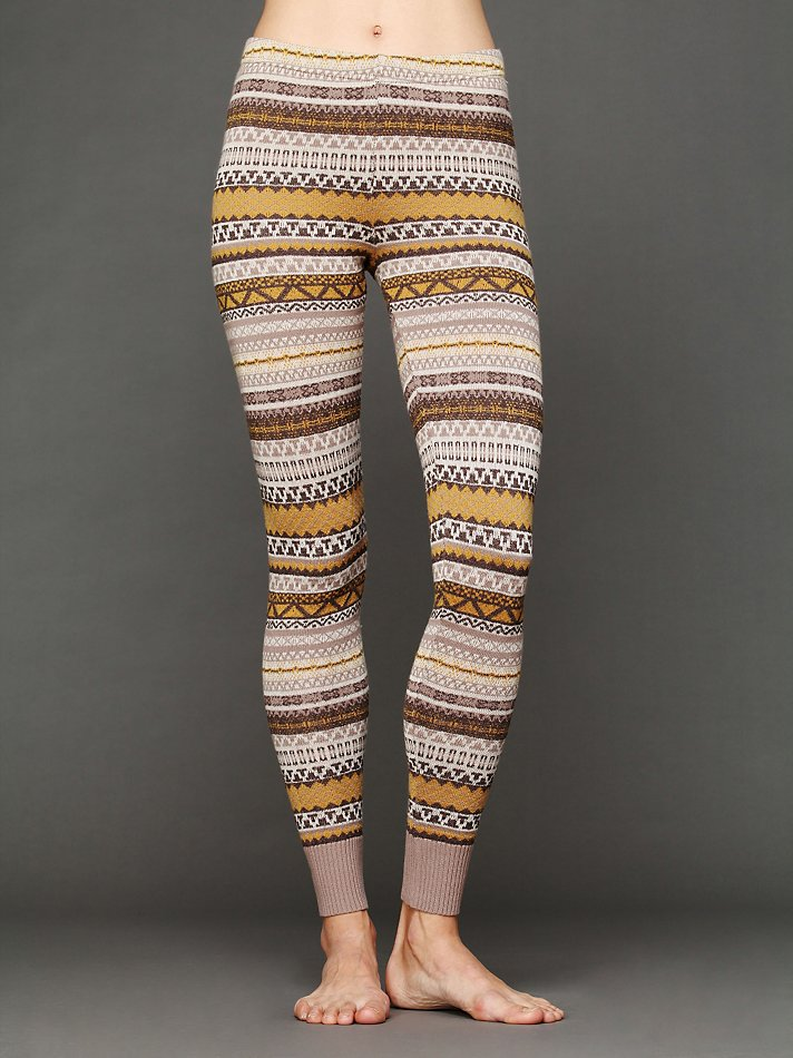 Free people Sweater Leggings | Lyst