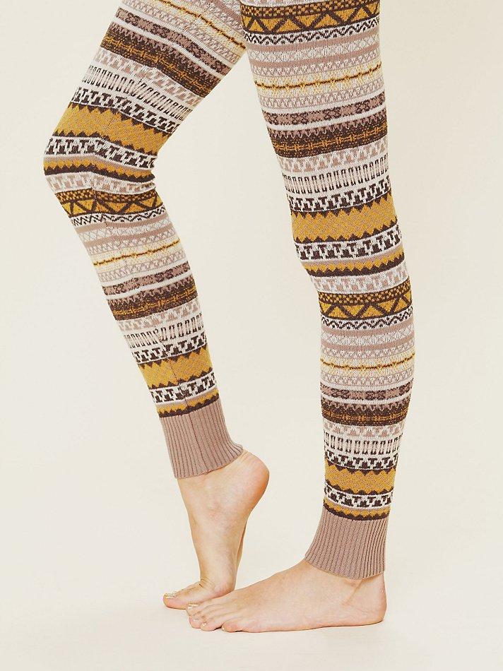 Free people Sweater Leggings | Lyst