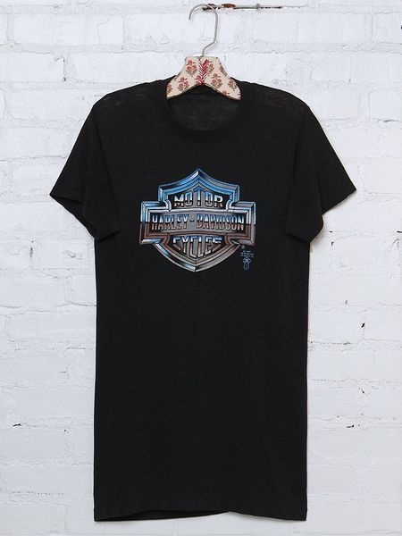 Free People Vintage Harley Davidson Graphic Tee in Black - Lyst