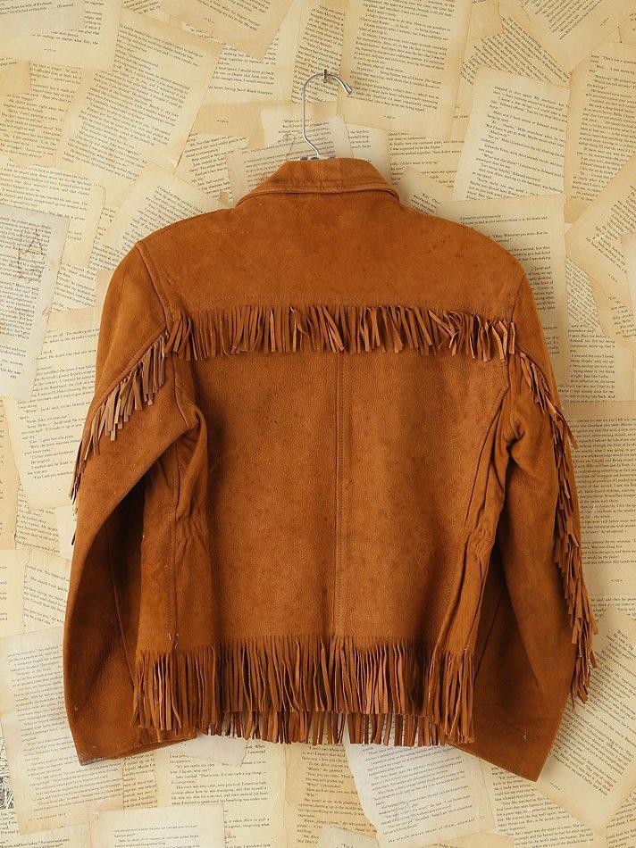 0ed686438f6 Lyst - Free People Vintage Suede Fringe Jacket in Brown