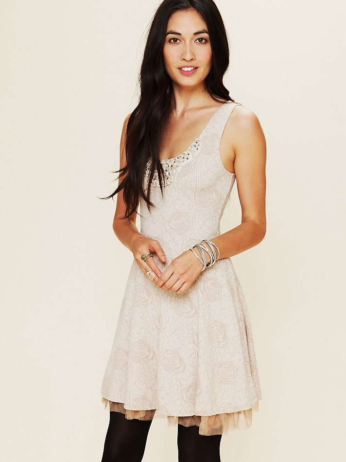Free People Rock Princess Fit And Flare Dress In White Lyst