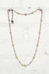 Free People Vintage Costume Bead and Pearl Necklace - Lyst