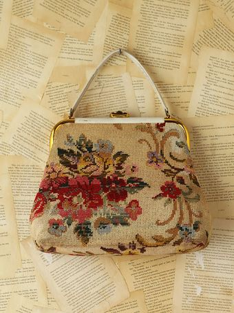Free People Vintage Floral Needlepoint Purse - Lyst
