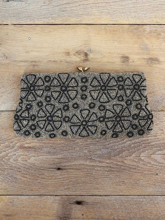 Free People Vintage Hand Beaded Clutch - Lyst