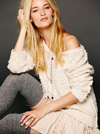 Free People Shaggy Knit Pullover - Lyst