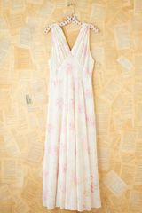 Free People Vintage Silk Maxi Dress - Lyst