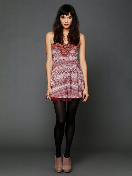 Free People Twinkle And Twirl Fit And Flare Dress In