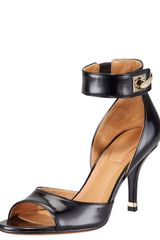 Givenchy Highheel Anklewrap Sharktooth Sandal - Lyst