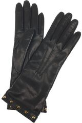 Gucci Studded Cashmerelined Leather Gloves - Lyst
