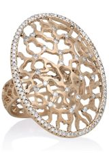 Ileana Makri 18karat Rose Gold Diamond Ring - Lyst