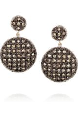 Ileana Makri Dangling Shield 18karat Rose Gold Sterling Silver and Diamond Earrings - Lyst