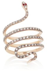 Ileana Makri Python 18karat Rose Gold Diamond and Ruby Ring - Lyst