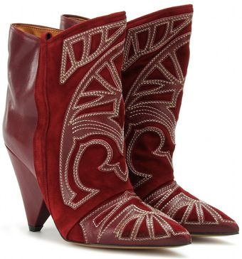 Isabel Marant Berry Ankle Boots with Cutout Appliqué - Lyst