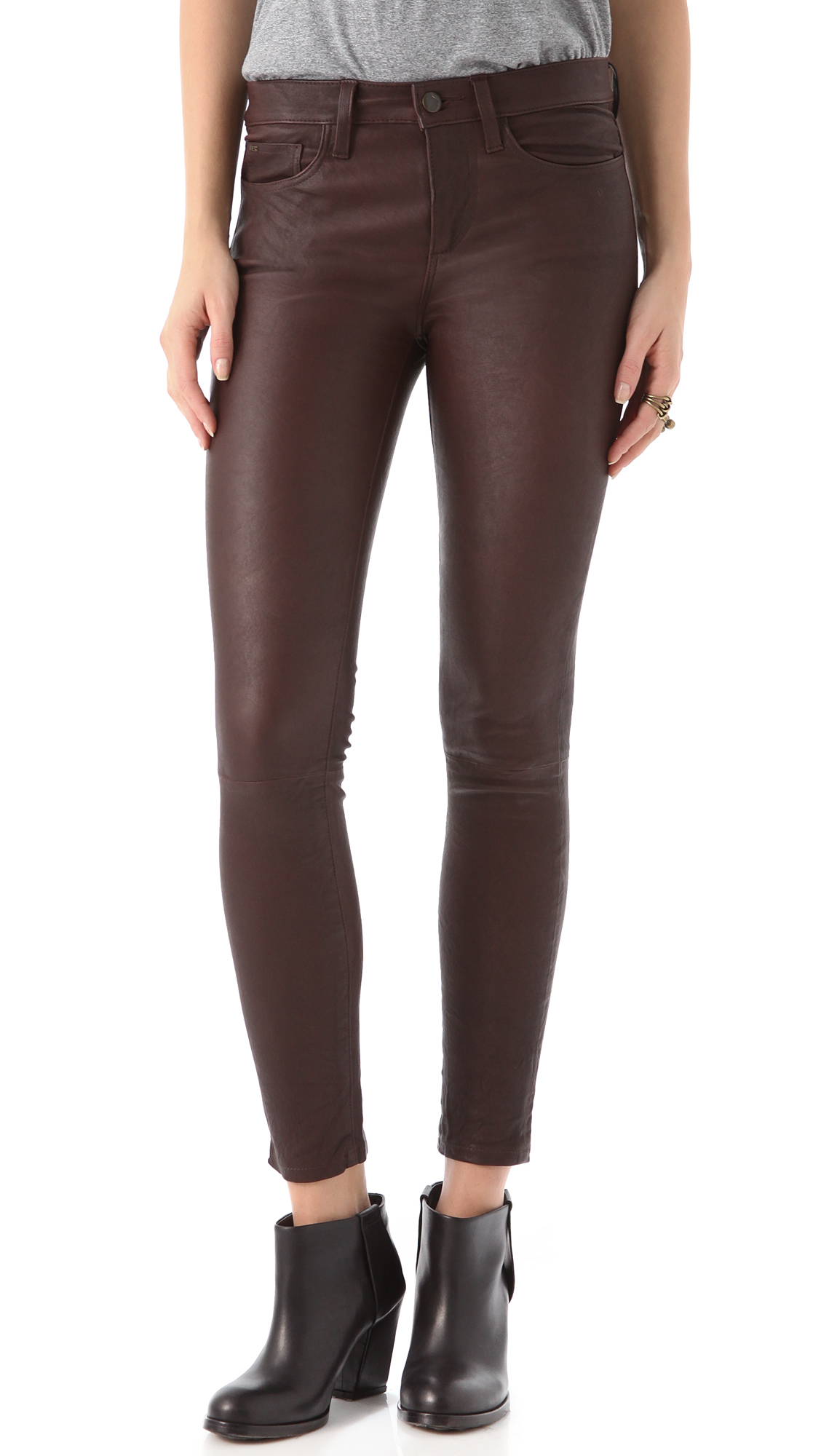 elegant shape lower price with pretty cheap Lyst - Joe's Jeans The Skinny Leather Pants in Brown