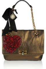 Lanvin The Happy Medium Metallic Woven Canvas Shoulder Bag - Lyst